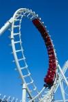Roller Coaster Making a Loop